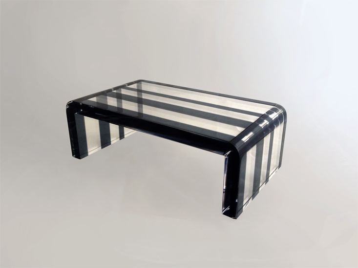 Coffe table in plexiglas pentagram cm 120x60h40