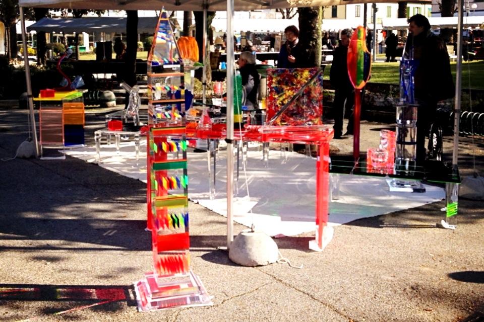 Plexiglas street Exhibition Roma Piazza Verdi