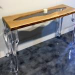 Console plexiglas legno Laguna cm 128x43h77