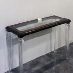 Console plexiglass legno old luigi 120x40h77