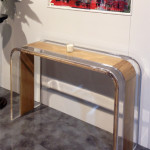 Console table acrylic wood Tiblisi cm126x42h83