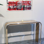 Console table lucite wood Tiblisi cm126x42h83