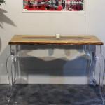 Lucite wood console Laguna cm 128x43h77
