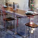 Table à diner en altuglas Stripes cm215x90h80