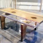 Tavolino plexiglass legno Spring cm115x67h41
