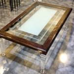 Tavolo saloto plexiglas legno Luigi cm120x70h42