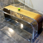 coffee table lucite wood Tiblisi cm120x60h45