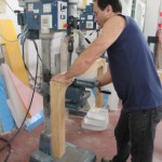 wood lucite table legs