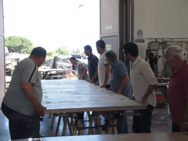 wood and lucite table lifting