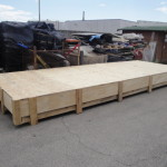 wood + lucite table packing