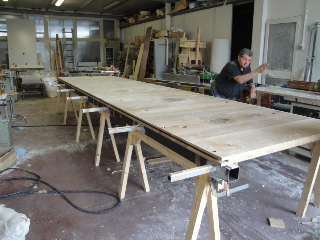 wood lucite table board joining
