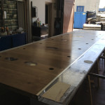 Table lucite + wood work in progress