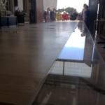 cast acrylic + wood Table- on work 2