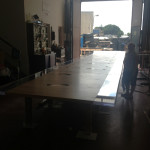cast acrylic + wood Table- work in progress 1