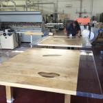 wood + cast acrylic Table- work in progress