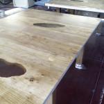 lavorazione tavolo plexiglas e legno1.