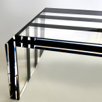 Acrylic coffee table Pent Detail mm1380x610h380