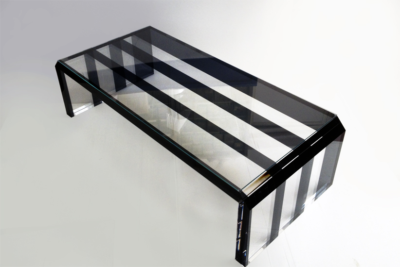 Acrylic coffee table Pentagram Glass mm1380x610h380