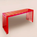 cast acrylic console table