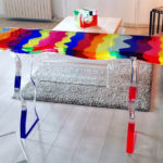 Cast acrylic console table 'Fluid' cm 138x39h81 design by Marco Pettinari