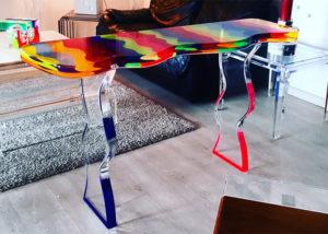 Lucite console table 'Fluid' cm 138x39h81