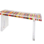 Plexiglass console table by Poliedrica
