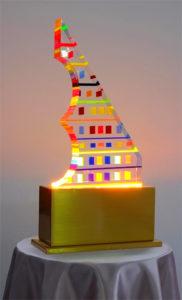Lamp in plexiglas Pixel by Poliedrica
