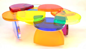 acrylic Coffee table BonBon by Marco Pettinari