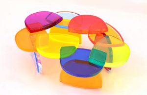 acrylic Coffee table BonBon by Marco Pettinari